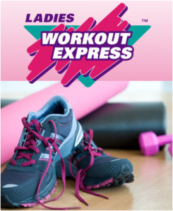 Ladies Workout Express Logo and Shoe Pic